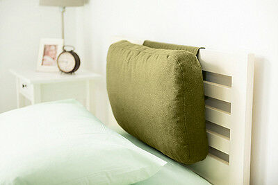 Olive Green Wool Feel Headboard Cushion Bed Rest Head Board Neck Support Cushion