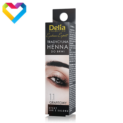 DELIA HENNA Traditional Powder Eyebrow Eyelashes 1.1 GRAPHITE Professional 2g