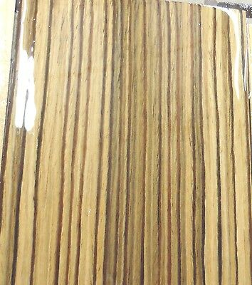 """Zebrawood composite wood veneer 24"""" x 48"""" with paper backer 1/40th"""" thickness"""