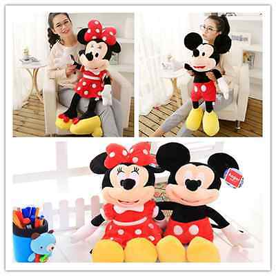 NEW Cute Mickey Mouse Minnie Mouse Disney Plush Stuffed Toy Doll Kid gifts 17.7""
