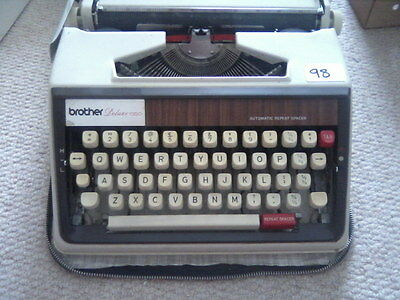 brother deluxe 1350 typewriter- white, vintage, retro, 70s