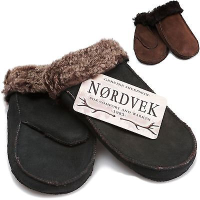 Nordvek Childrens Genuine Sheepskin Mittens 3-8 Years Girls & Boys Real 314-100