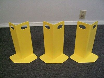 Carpet Cleaning Corner Guards, Set of 3 Yellow Wall Buddies