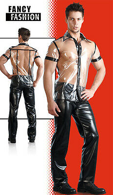 PCV Lack Fancy Fashion Transparentes Hemd NEU GAY