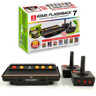 ATARI Flashback 7 Classic Video Game Console/ 101 Built-In Games w/ Controllers