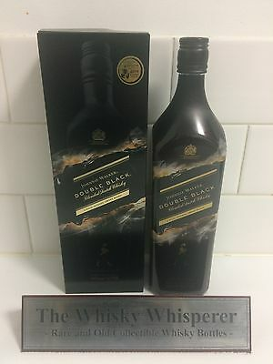 JOHNNIE WALKER 1000ml DOUBLE BLACK LABEL SHADOW Special Edition In Box - RARE!