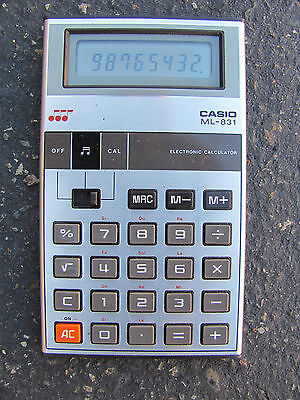 Casio ML-831 Vintage Musical Calculator Tested and Working