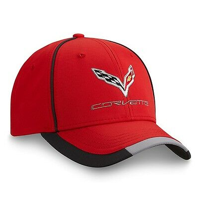 C7 Corvette Red Performance Hat Embroidered Polyester Chevy