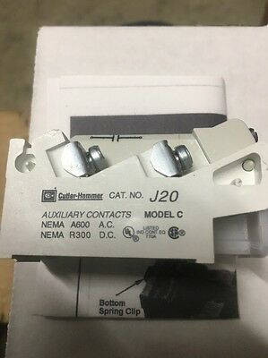 CUTLER HAMMER EATON J20 Auxiliary Contact 9084A17G02 Lot Of 6