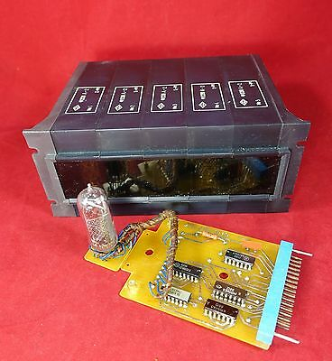 Vintage nixie 5x IN-14 indication module F228 A-2 NOS