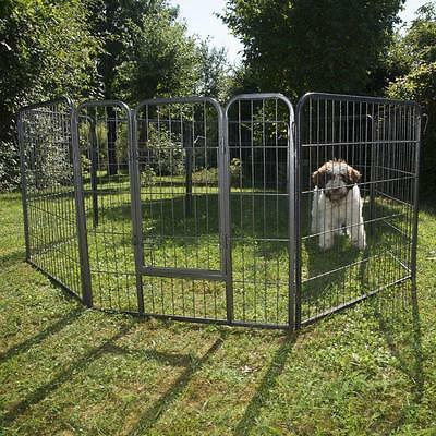 Pet Cage Dog Run Enclosure Cat Playpen Rabbit Small Puppies 8 Metal Sided Easy