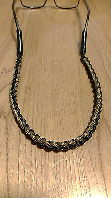Coyote ,Black, Braided Paracord Sunglasses Neck Strap Eyeglass Glasses Lanyard