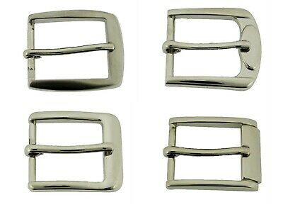 "1"" (25 mm) Prong Pin Belt Buckle Straps Nickle Free Silver Metal Leather Crafts"