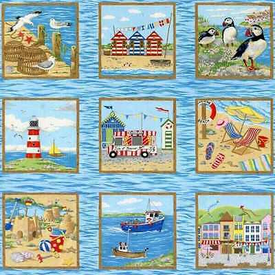 QUILT PANEL/WALL HANGING  - SEASIDE by NUTEX - 33 BLOCKS