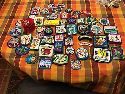 Massive Lot Of 120 Girl Scout Patches- Some Multiples- Free Shipping