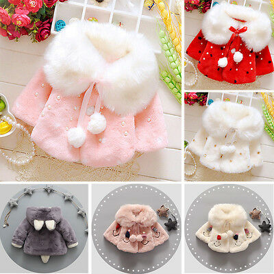Cute Newborn Baby Toddler Kids Girls Winter Hooded Coat Outerwear Jacket Clothes