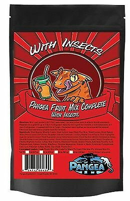 Pangea Fruit Mix With Insects Crested Gecko Complete Diet 1/2 lb, crested geckos