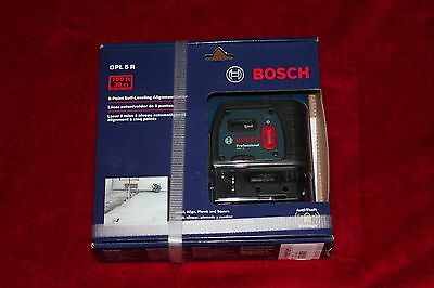 New Bosch 5-Point Self-Leveling 100Ft 30M Alignment Laser Gpl 5 R