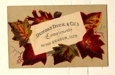 1875 Pictorial business card - w/ Calendar on back