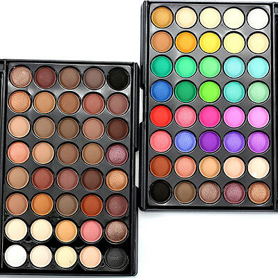40 Warm Colors Pigment Matte & Shimmer Eyeshadow Palette Eye Shadow Makeup Tools