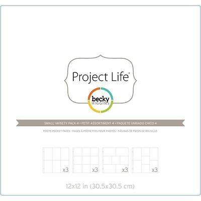 Project Life 12 x 12 Inch Photo Pocket Page Protectors Variety 12 Pack Scrapbook
