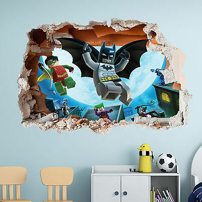 lego batman wall sticker - 3d boys girls bedroom vinyl wall art