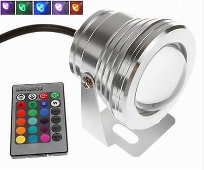 Welll 10W 12V RGB LED Underwater Spot Light IP68 Waterproof Pond Aquarium Lamps