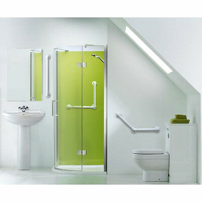 Angled Plastic Grab Rail - Disabled Toilet Support Grab Rail Bathroom Safety WC
