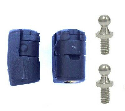 Pair 2 x New Angled 10mm Female M8 Thread Gas Strut End Fitting