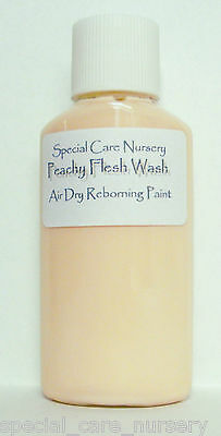 30ml PEACHY FLESH WASH - for Special Care Nursery Air dry Reborning Paints