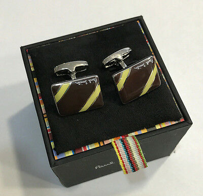 Paul Smith Cufflinks with Plaid Pattern /& PS Logo /& SIGNATURE Swings