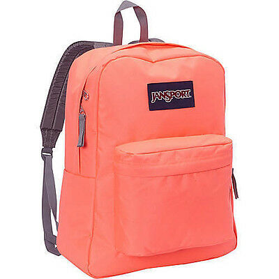 New 2016 JANSPORT Superbreak Tahitian Orange Backpack 100% Authentic NWT