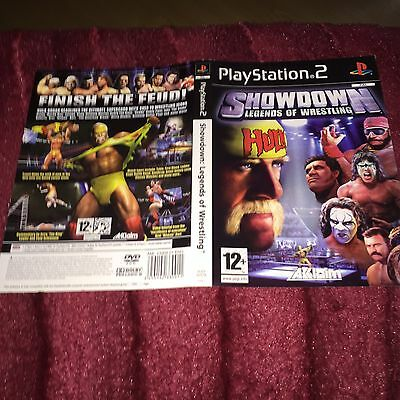 cover artwork For Showdown Legends Of Wrestling ps2  NO GAME DISC INCLUDED