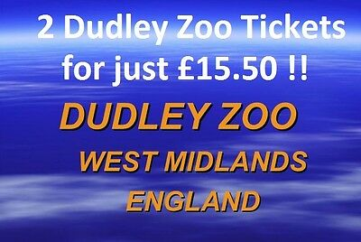 2 x Dudley Zoo Tickets  ALL for just £15.50 ***Voucher Valid until 31st December
