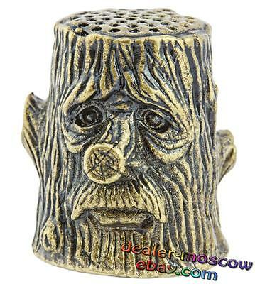 Bronze Solid Brass IronWork Original Thimble Wood Goblin 1376PR