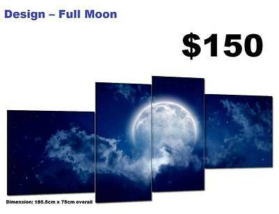 Full Moon - SPLIT FRAMED/UNFRAMED CANVAS PRINTS !!! Modern Art Painting