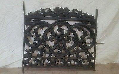 Antique cast iron garden gate, panel