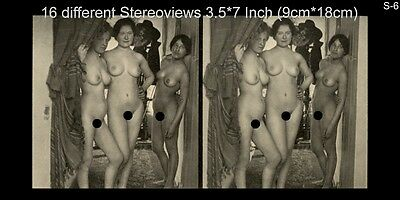 16 Akt - Stereofotos klassik Nude, Paris 1910, Lot 6, Stereoviews France