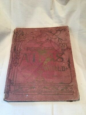 Antique 1901 Peerless Atlas Of The World Census Of 1900 Maps Pictures VERY NICE!