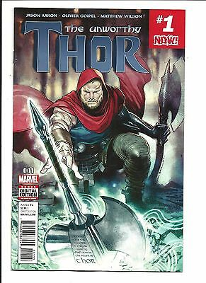 UNWORTHY THOR # 1 (MARVEL NOW, JAN 2017), NM/M NEW (Bagged & Boarded)