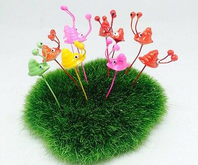 10 Pcs Multi color Tiny Snail Miniature Dollhouse Fairy Garden Accessories