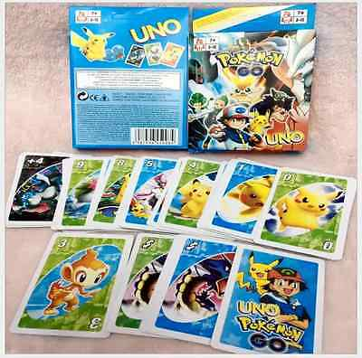 Pokemon UNO Pocket Monster Collectors Card Game Fun Family Playing Card Game