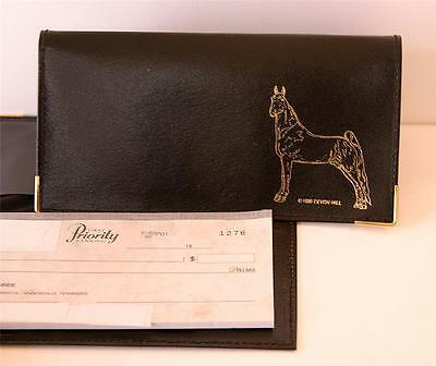New---Black Horse Checkbook Cover