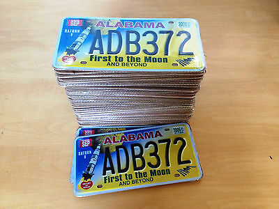 Set Of 50 Us License Plates Alabama First To The Moon Saturn - Replica Usa 69H