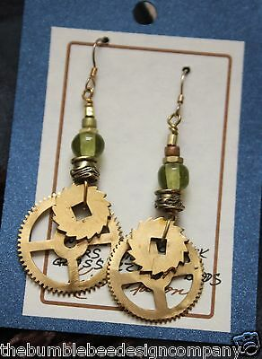 Cuckoo Clock & Bullets Upcycle Earrings New Mexico Artist Recycle Art Handmade