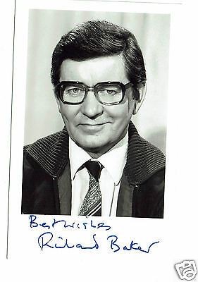 Richard Baker BBC News reader  Hand Signed Vintage BBC Photograph 5 X 3