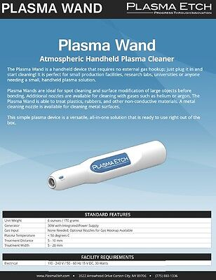 Plasma Etch Wand Hand Held Atmospheric Plasma Cleaner Plasma Etcher
