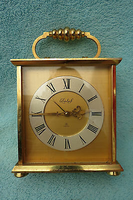 Vintage Imhof 8 Day Alarm Carriage Clock