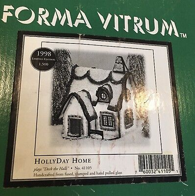 "FORMA VITRUM ""HollyDay Home"" STAINED GLASS 41105 ""Deck The Halls"""
