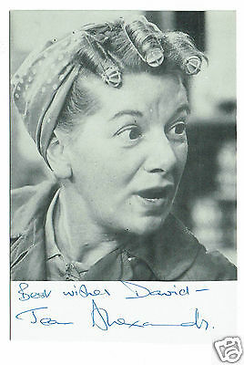 Jean Alexander Actress Coronation Street Vintage Hand signed Photo 6 x 4
